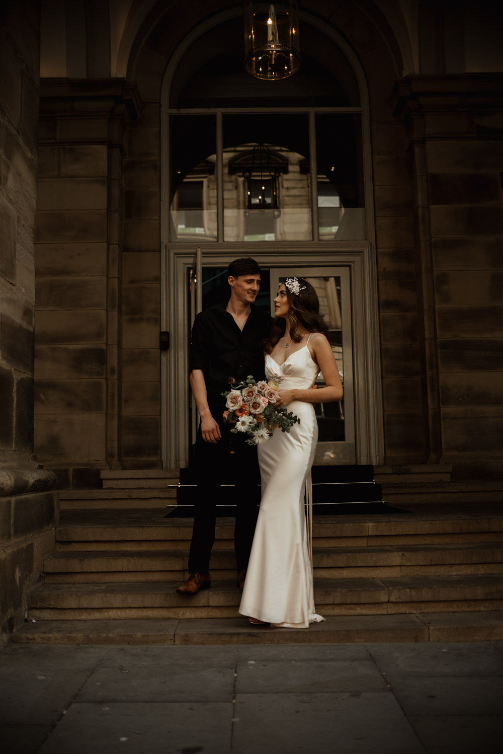 couple standing in manchester