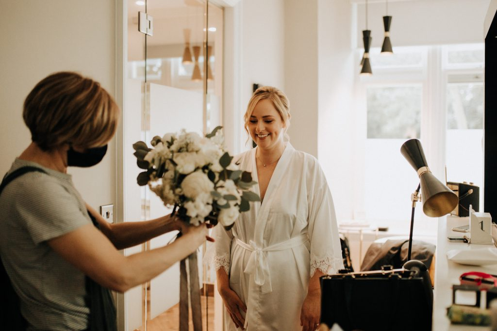 delivery of bridal flowers