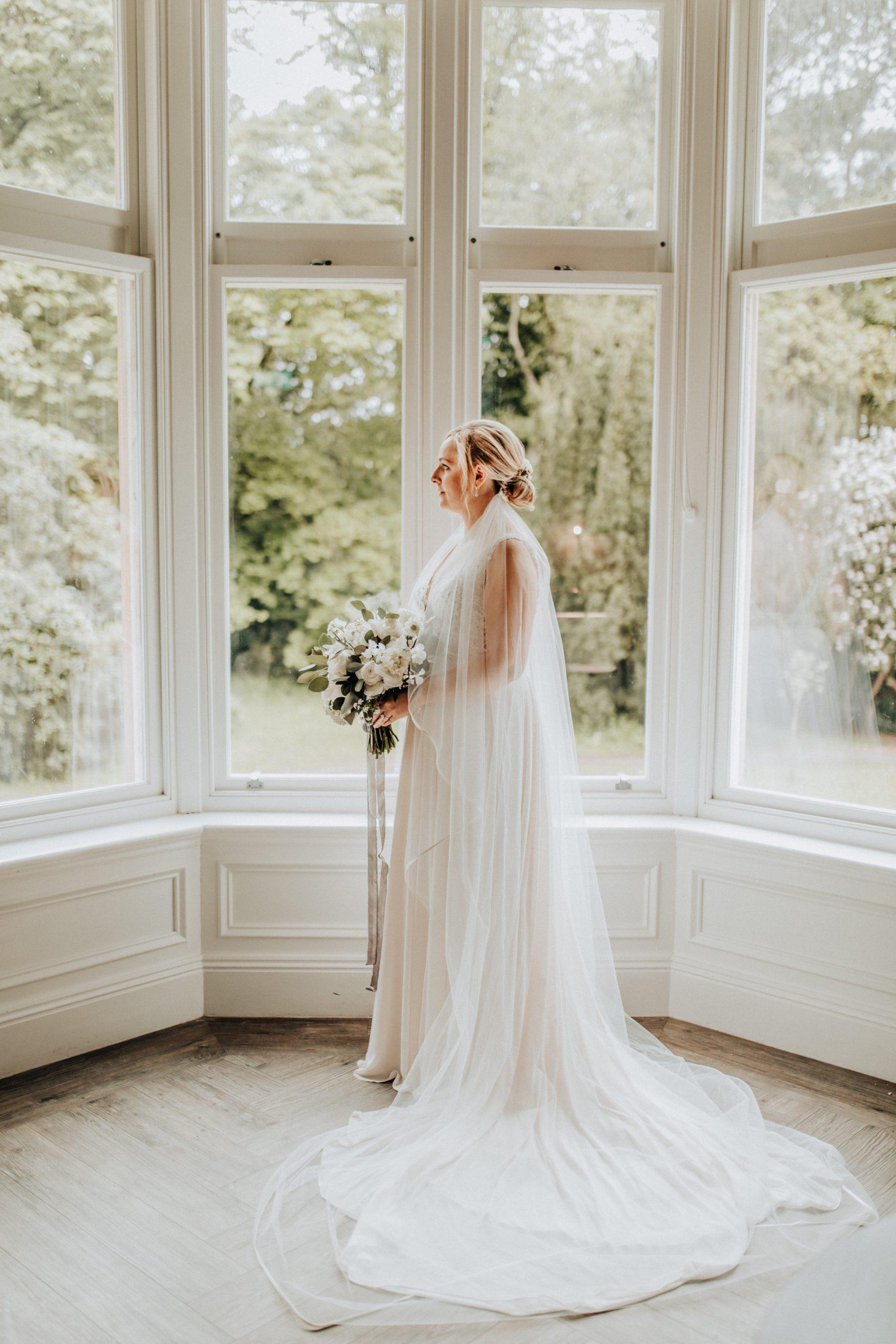 bride bathed in light