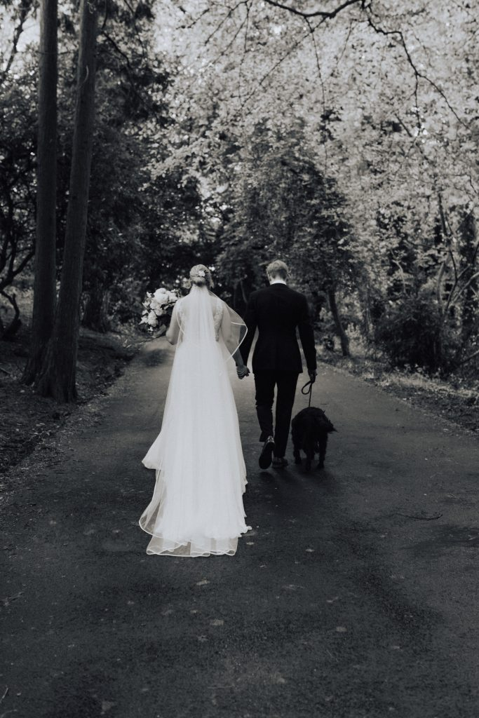 couple walking off in the distance